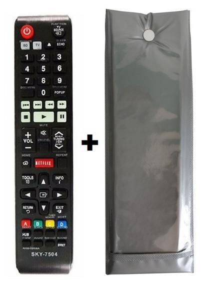 Controle Home C Netflix Samsung Ah59-02406a + Capa Reforçada