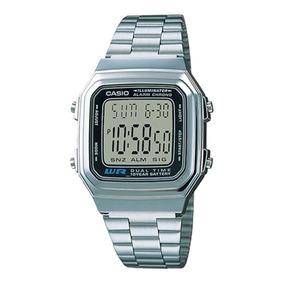 Relógio Casio Vintage A178wa-1adf Cinza