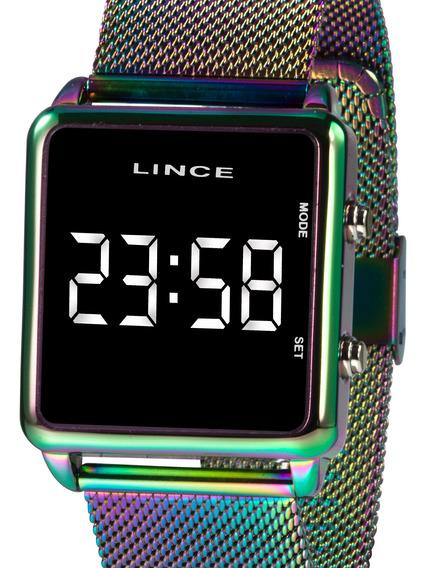 Relógio Lince Feminino Digital Quadrado Mdt4619l Bxqx