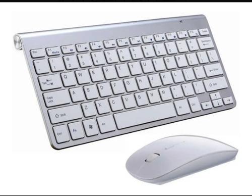 Combo Kit Inalámbrico Teclado Ñ Compacto Y Mouse Óptico Pc