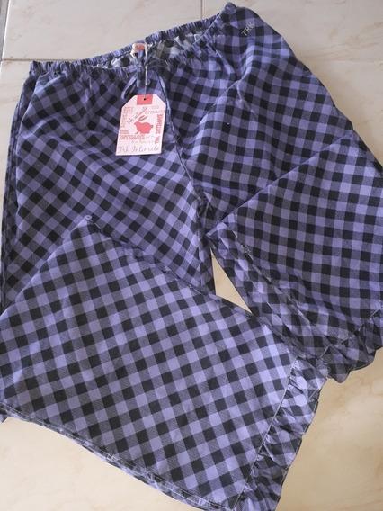 Mono Pantalón Morado Con Negro Talla G