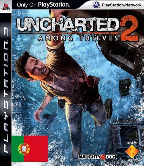 Uncharted 2 Portugues De Portugal Completo Dlcs Ps3
