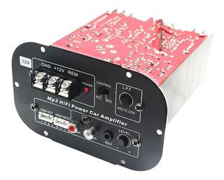 Amplificador Potencia Para Subwoofer Tweeter Mp3 120w 12v