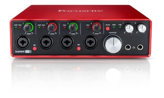 Interface De Audio Usb Scarlett 18i8 - Focusrite + Nf - Com Nota Fiscal E Garantia De 2 Anos Proshows!