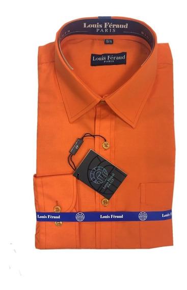 Camisas Unicolor De Vestir Louis Feraud Manga Larga