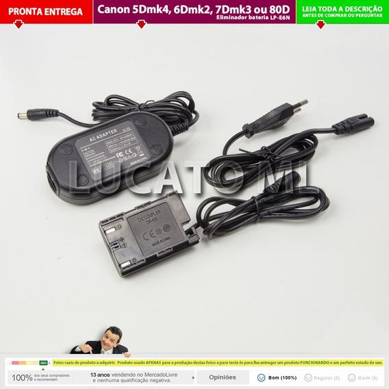 Eliminador Lpe6n Fonte Para Canon 80d 5dmk4 6dmk2 7dmk2 Nc