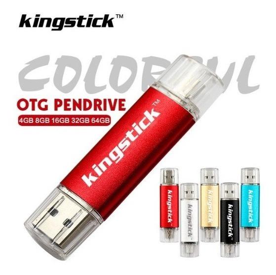Kit 2 Pen Drive 32gb Duas Entradas + 2 Cartão Memoria 32gb