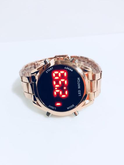 Relógio Digital Led Aço Top