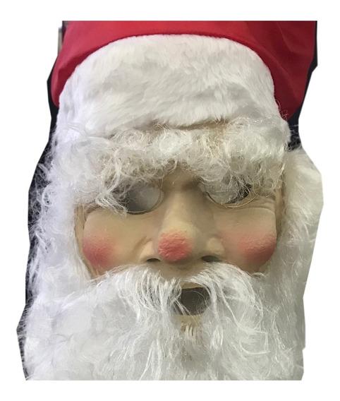Mascara Papa Noel De Latex C/ Pelo Navidad Santa Disfraz