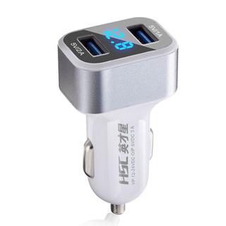 Naranja perfk 5V 4.2A 2 Puertos USB Cargador de Coche Adaptador de Enchufe de Encendedor para Vehiculos