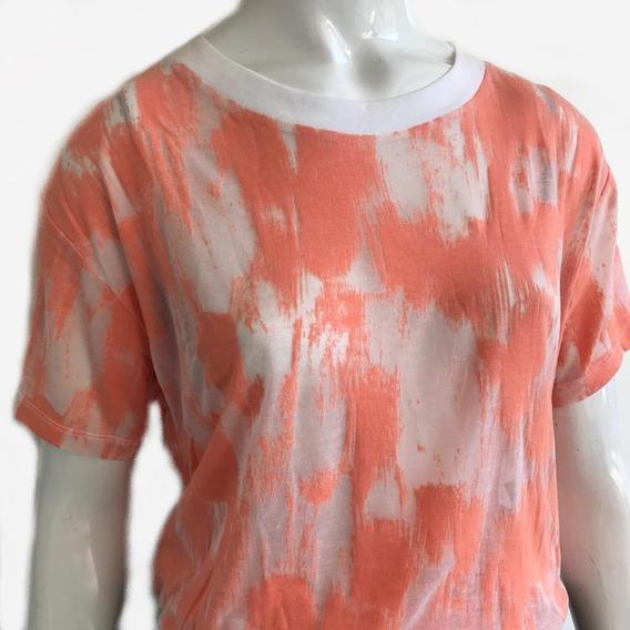 Blusa Camiseta Feminina Gap T-shirt Laranja Original - M