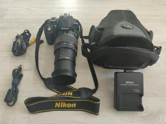 Camera Fotográfica Dslr Nikon D3300 + Lente Sigma 18-250mm