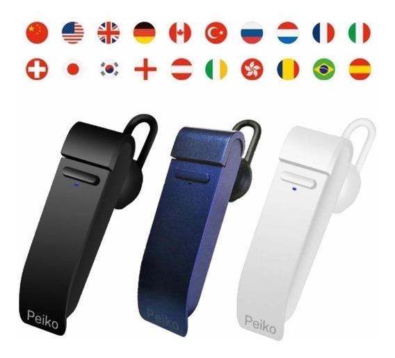 Fone Ouvido Tradutor Peiko 25 Linguas Idiomas iPhone Android