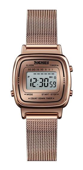 Skmei 1252 Ms. Relógios De Quartzo Simples Ouro Rosa (versão