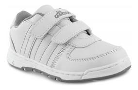 Zapato Los Gomosos Bob Velcro Blanco Gris Para Niños