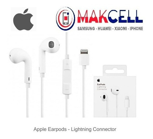 Imagen 1 de 3 de Audífonos Earpods Lightning Apple iPhone Originales