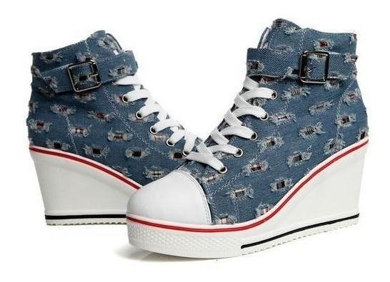 Sneaker Feminino De La Chance 06917 Importado Frete Grátis