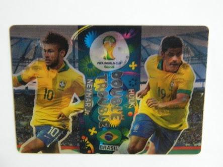 CAVANI-SUAREZ URUGUAY BRASIL 2014 Card Double-Trouble Adrenalyn Panini