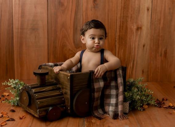 Trem Envelhecido Newborn Acompanhamento Bebê Prop Cenário
