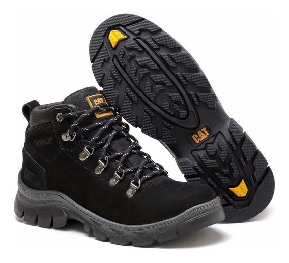 Bota Caterpillar De Cuero Original + Billetera + Cinturon