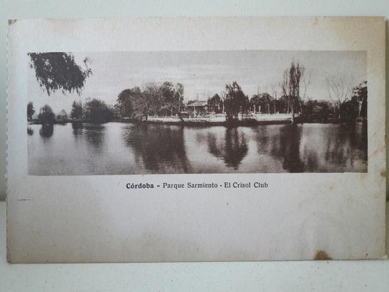 Antigua Tarjeta Postal De Córdoba Parque Sarmiento
