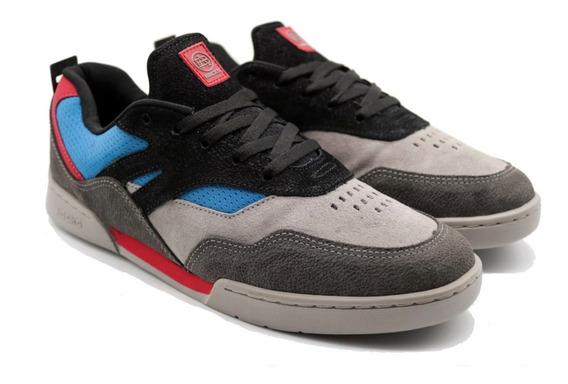Tênis Hocks Skate Sneaker Vita Cinza Vermelho Azul Masculino E Feminino Sneaker Original Promoção Envio Imediato