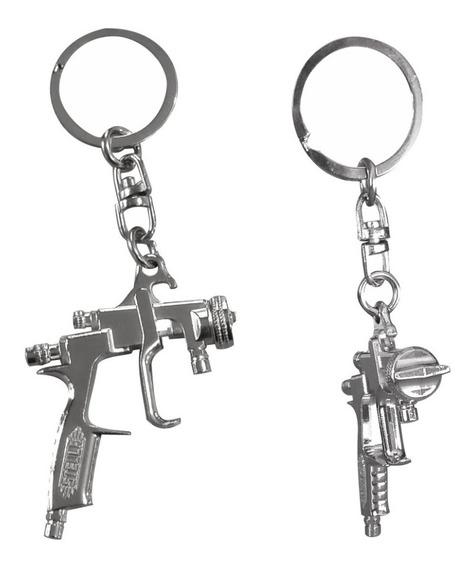 Kit Com 4 Chaveiros Réplica Pistola De Pintura Steula
