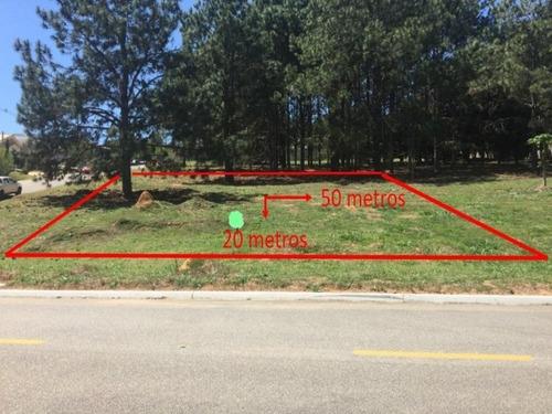Imagem 1 de 6 de Terreno À Venda, 1000 M² Por R$ 220.000 - Condomínio Terras De São Lucas - Sorocaba/sp, Terreno Com Frente Para O Lago - Te0131 - 67640109