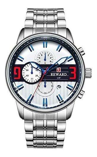 Reloj Reward Vip Para Hombre Elegante White/blue