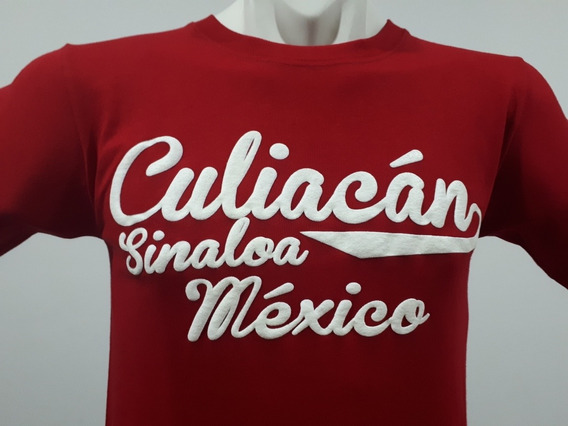 2 Playeras Puro Sinaloa Compa Culiacán Beisbolera Rojo