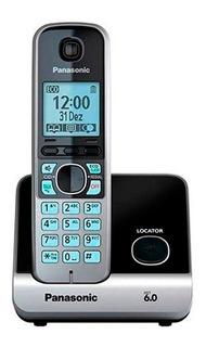 Telefone Fixo Sem Fio Rj11 Panasonic Kxtg6713lbb Preto