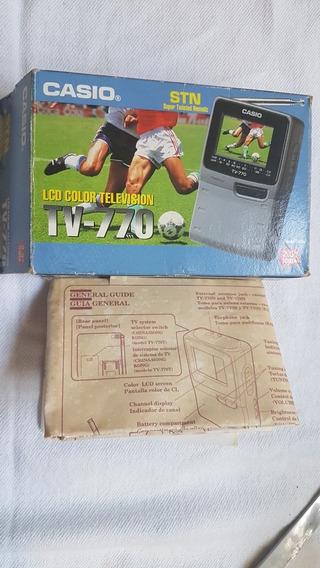 Caixa Original E Manual Da Tv 770 Casio