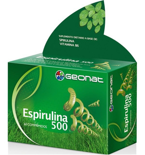 Geonat Espirulina 500 Disminuye Apetito 60 Comp Vitaminas
