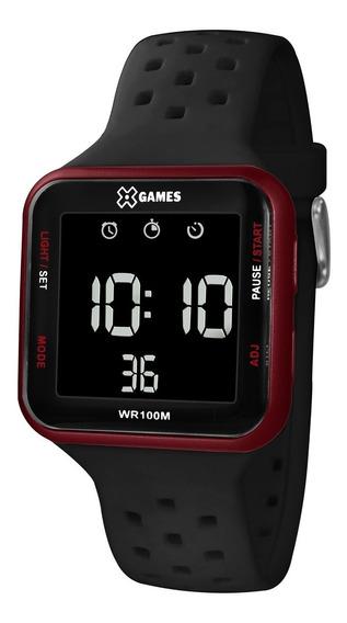 Relógio X-games Masculino Digital Xgppd101 Vermelho Negativo