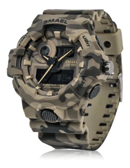 Relógio Camuflado Smael Quartzo Masculino Exército