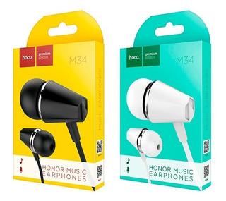 Auriculares In Ear Manos Libres Premium Hoco M34 Original