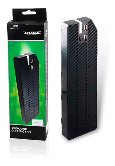 Cooler Xbox One+ 2 Usb Original Dobe Ventilador Refrigeração