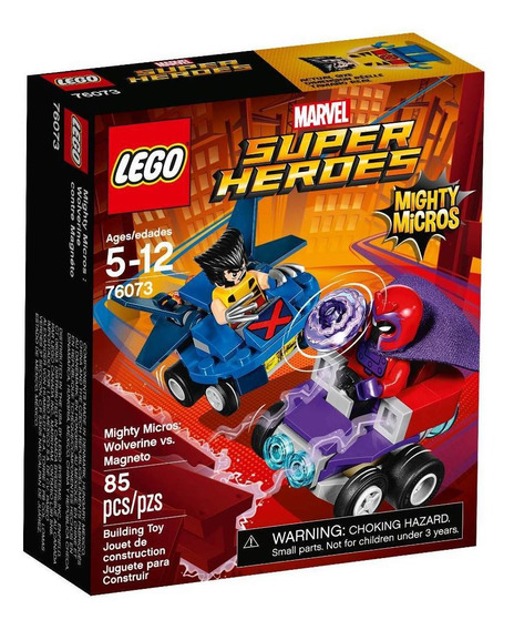 Mighty Micros: Wolverine Vs. Magneto Lego - 76073