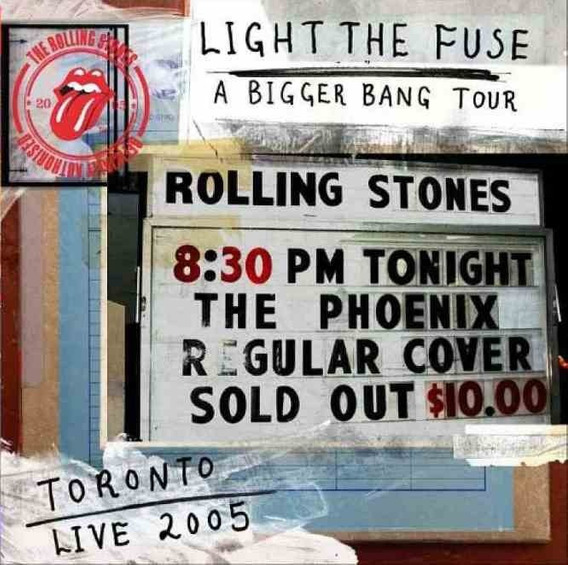 Cd Rolling Stones Light The Fuse A Bigger Bang In Toronto 05