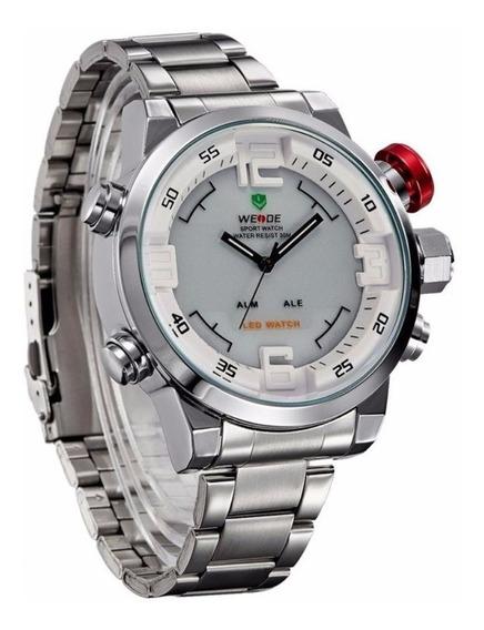 Relógio Masculino Pulso Weide Digital E Analogico C/ Caixa