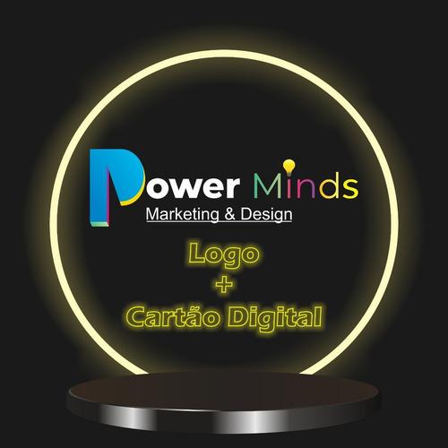 Imagem 1 de 5 de Logotipo Logomarca Identidade Visual Cartão Interativo Logo