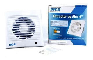 Extractor De Aire 4 Pulgadas 100mm 19w 220v Sica Electrocity