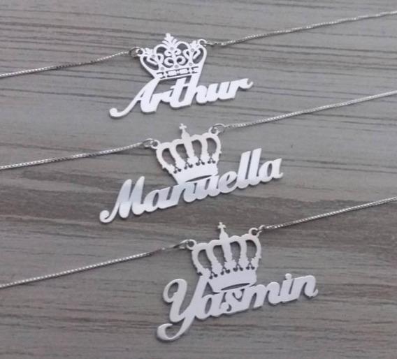 Cordão Nome Personalizado Prata 925 _ Promoção