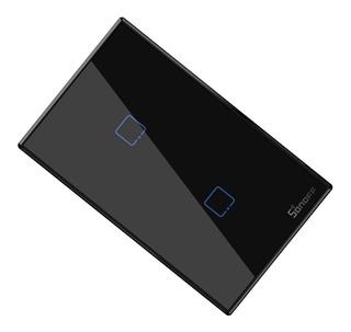 Tecla Touch Wi Fi Sonoff T2 Nuevo Modelo Negro T3us1c-tx