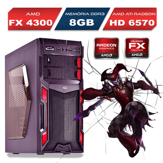Pc Gamer Bulldozer Amd Fx-4300 8gb Ssd 120gb Wifi