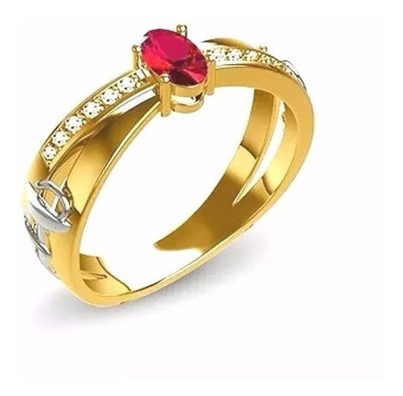 Anel De Formatura Ouro 18k Direito Rubi E Diamantes Naturais
