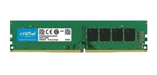 Memoria Ram Crucial 8 Gb Ddr4 Pc 2666 Mhz