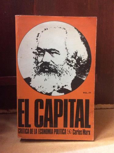 El Capital Volumen Iii Por Karl Marx Economía Política