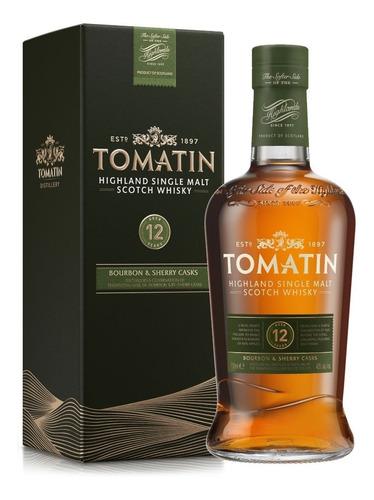 Imagen 1 de 6 de Whisky Tomatin 12 Años Bourbon & Sherry Casks  S. Malt 700ml