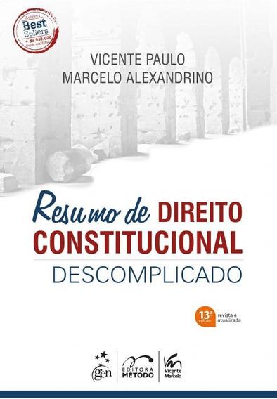 Resumo De Direito Constitucional Descomplicado 13ed 2019